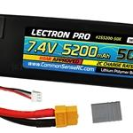 5200mAh 7.4V 50C Lipo Pack with Traxxas Connector