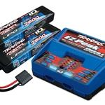 Traxxas  2S Battery/Charger Combo: (2) 7.4V 7600mAh LiPo Battery, (1) EZ-Peak Dual ID Charger (TRA2991)