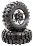 "Apex APX6155 1.9"" Beadlock ""K2"" Wheels 108mm ""Muncher"" Crawler Tires #6155"