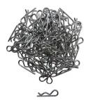 Apex APX4027 1/10 Large RC Galvanized Steel Body Clips - 100pcs #4027