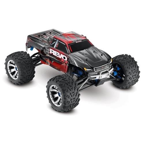 Traxxas 1/10 Revo 3 3 4WD Nitro Monster Truck RTR with TSM, Blue (TRA530973)