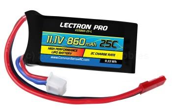 11.1V 3S 860mAh 25C Lipo Battery with JST Connector (3S86025L)