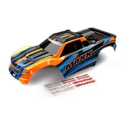 Body, Maxx®, orange (painted)/ decal sheet